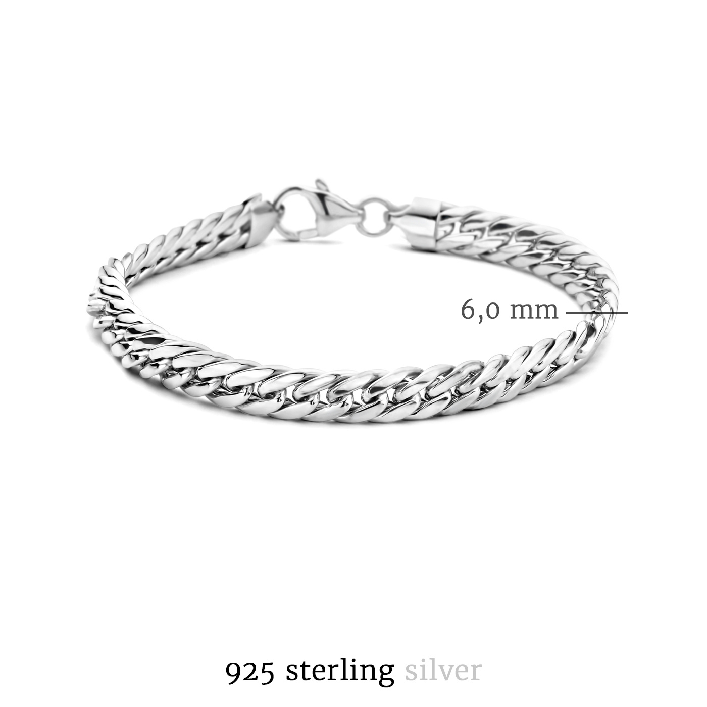 Selected Jewels Emma Vieve 925 sterling zilveren armband