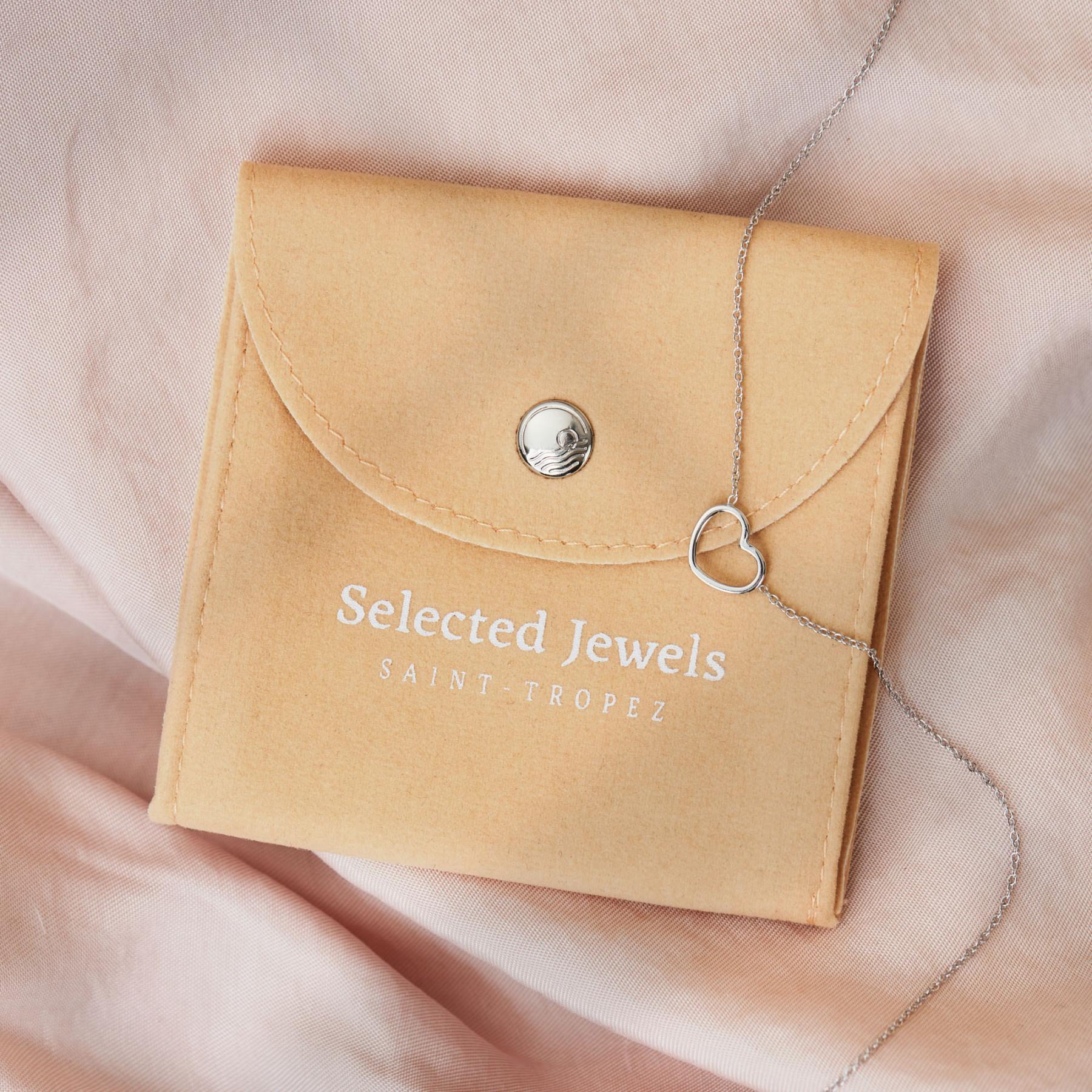Selected Jewels Julie Théa 925 sterling silver hoop earrings with crosses