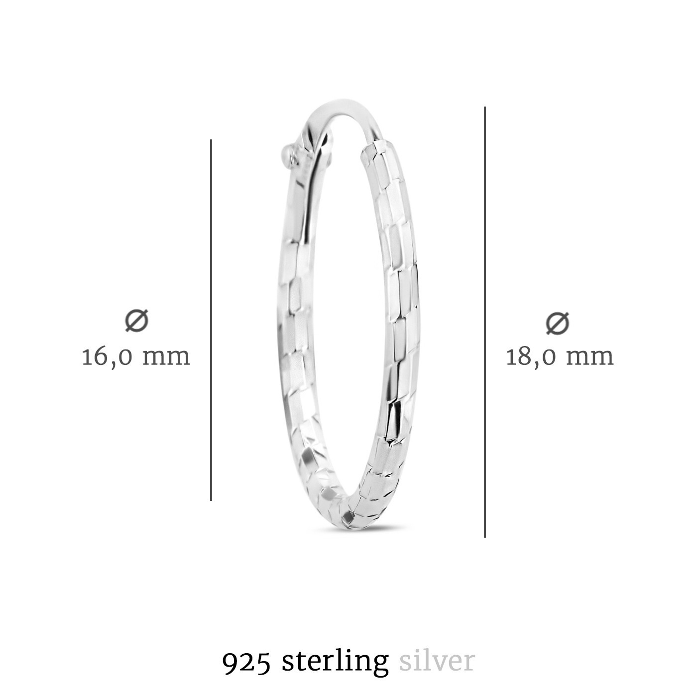 Selected Jewels Zoé 925 sterling silver creoles