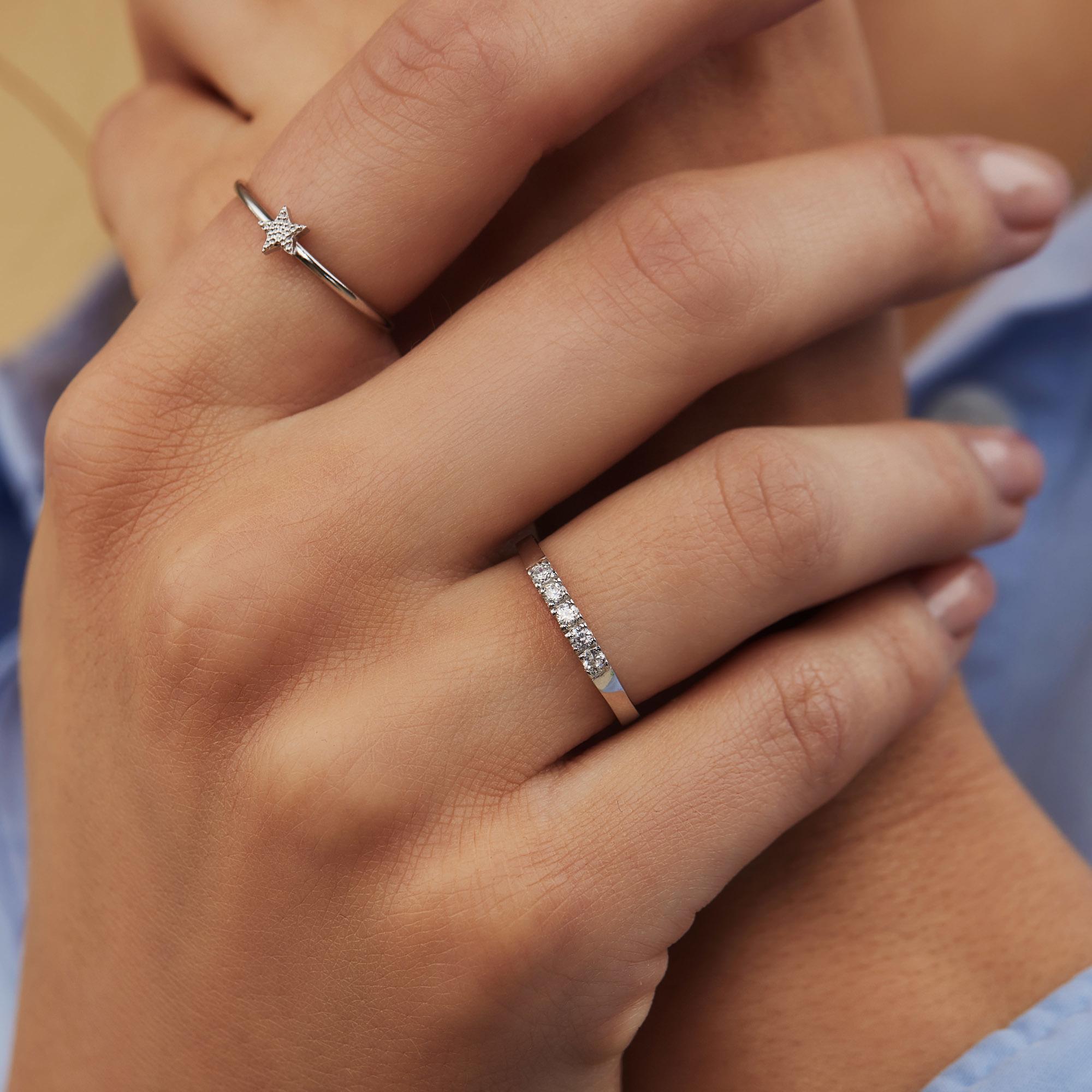 Selected Jewels Julie Esthée ring i 925 sterling silver