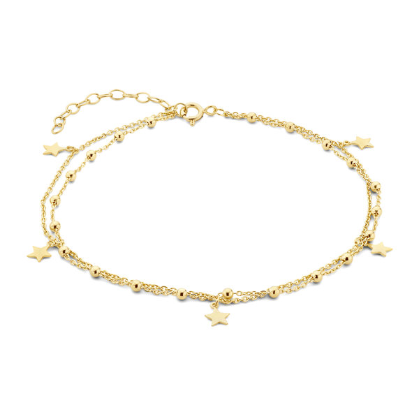Selected Jewels Julie Esthée 925 sterling silver gold colored anklet