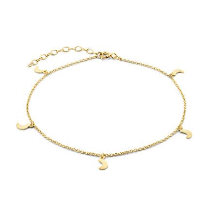 Selected Jewels Julie Louna 925 Sterling Silber goldfarbenes Fußkettchen