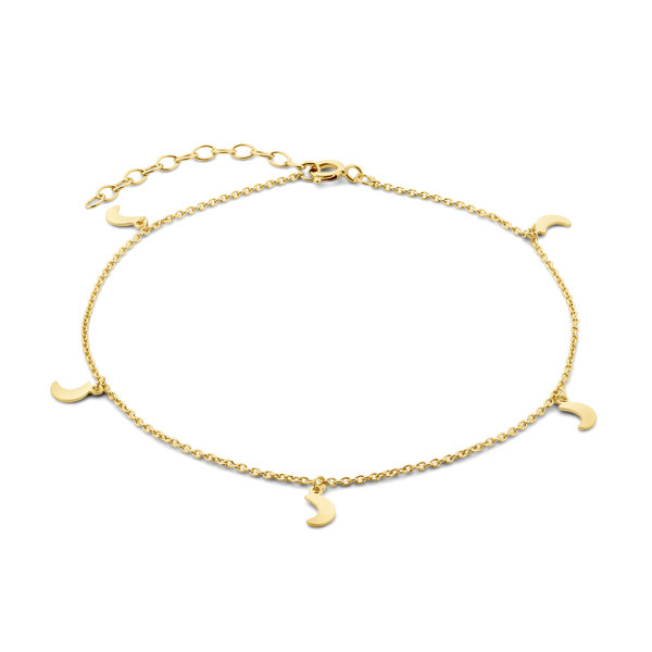 Selected Jewels Julie Louna 925 sterling silver gold colored anklet