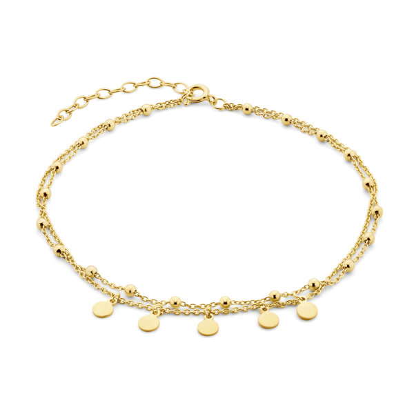 Selected Jewels Julie Belle 925 sterling silver gold colored anklet