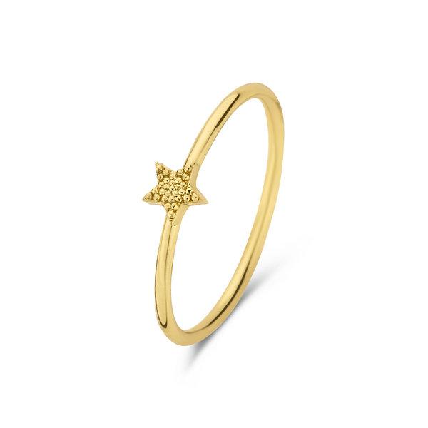 Selected Jewels Julie Esthée 925 Sterling Silber goldfarbenes Ring