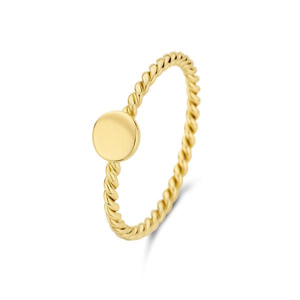 Selected Jewels Julie Belle 925 Sterling Silber goldfarbenes Ring