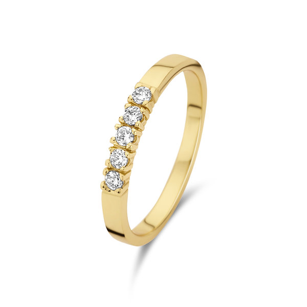 Selected Jewels Mila Elodie anello color oro in argento sterling 925