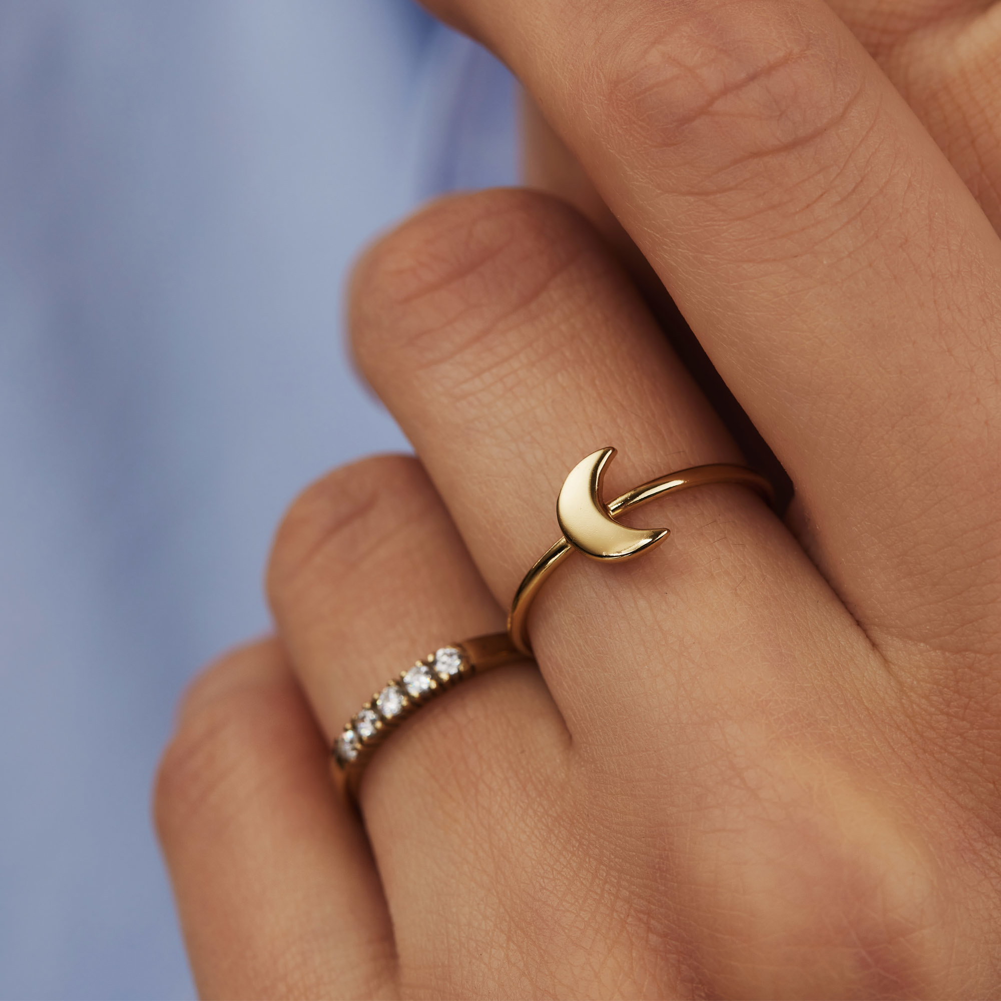 Selected Jewels Julie Louna 925 sterling zilveren goudkleurige ring