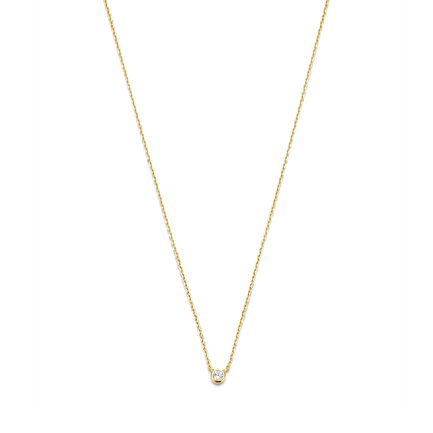 Selected Jewels Julie Romy 925 sterling silver gold colored necklace