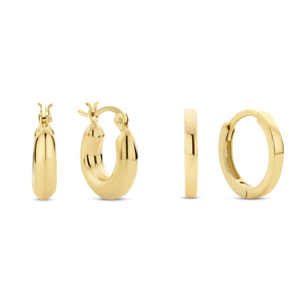 Selected Jewels Selected Gifts ensemble de boucles d'oreilles couleur or en argent sterling 925