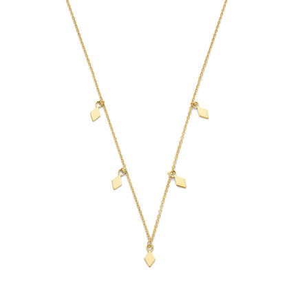 Selected Jewels Julie Sanne 925 sterling silver gold colored necklace