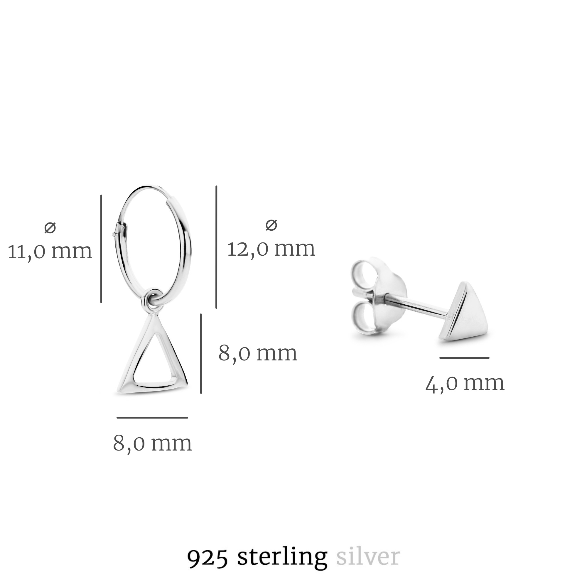 Selected Jewels Selected Gifts 925 sterling sølv guldfarvet sæt øreringe