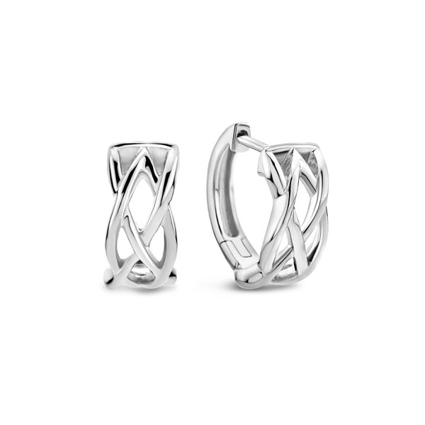 Selected Jewels Emma Vieve creole in argento sterling 925