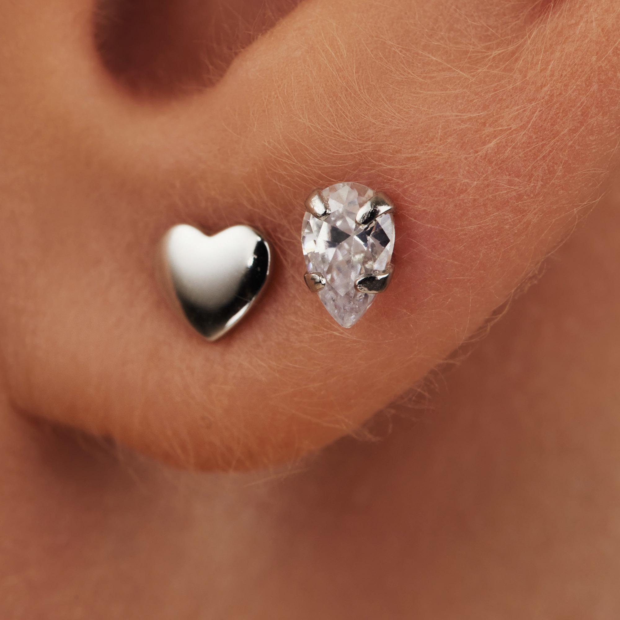 Selected Jewels Aimée 925 sterling zilveren oorknoppen
