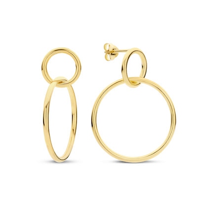 Selected Jewels Zoé 925 sterling silver gold colored drop earrings