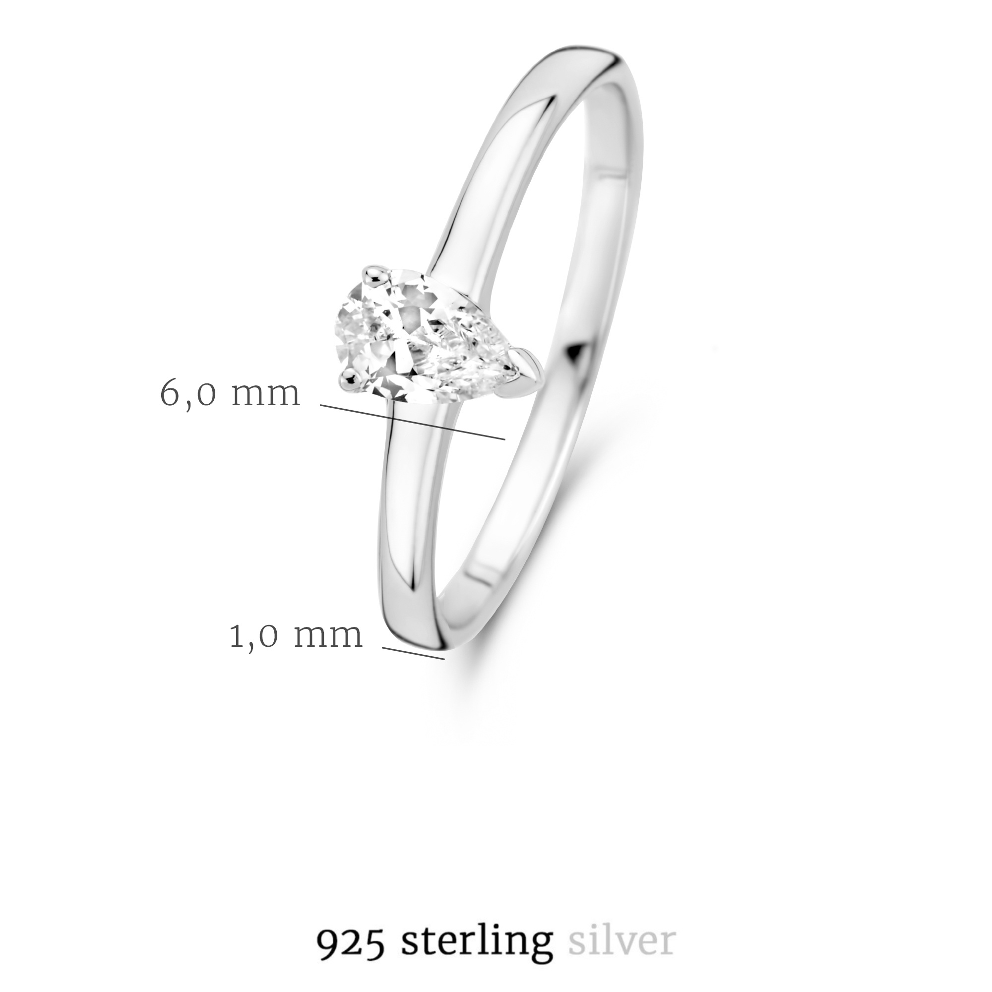 Selected Jewels Mila Elodie anello in argento sterling 943