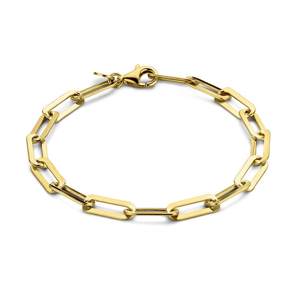 Selected Jewels Emma Jolie bracciale a maglie color oro in argento sterling 925