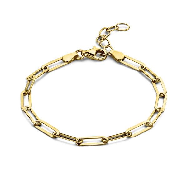 Selected Jewels Emma Jolie 925 sterling silver gold colored chain bracelet