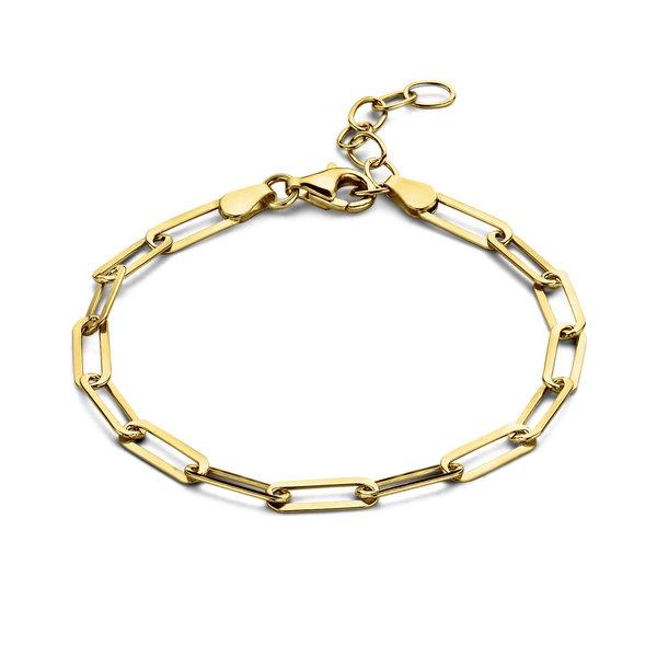 Selected Jewels Emma Jolie 925 sterling zilveren goudkleurige schakelarmband