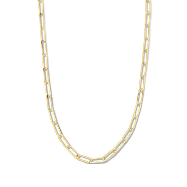 Selected Jewels Emma Jolie 925 Sterling Silber goldfarbenes Gliederkette