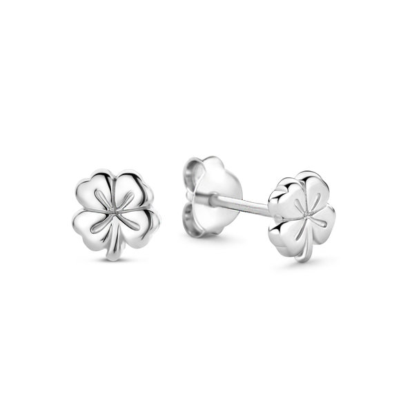 Selected Jewels Julie Olivia orecchini a bottone in argento sterling 925