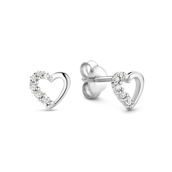 Selected Jewels Aimée orecchini a bottone in argento sterling 925