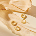 Selected Jewels Selected Gifts 925 sterling silver guldfärgad uppsättning örhängen