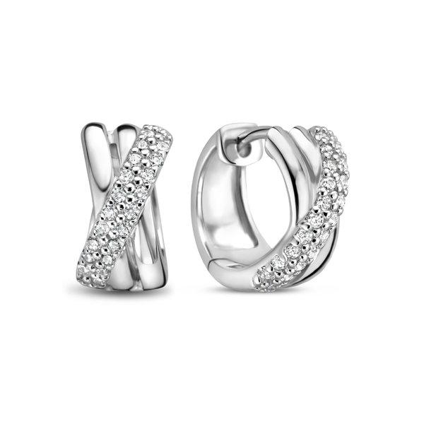 Selected Jewels Mila Elodie 925 sterling silver hoop earrings