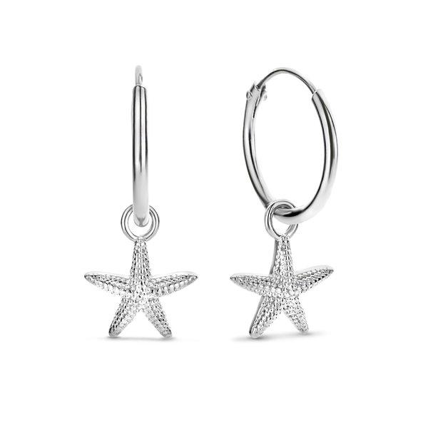 Selected Jewels Julie Macy 925 sterling silver hoop earrings