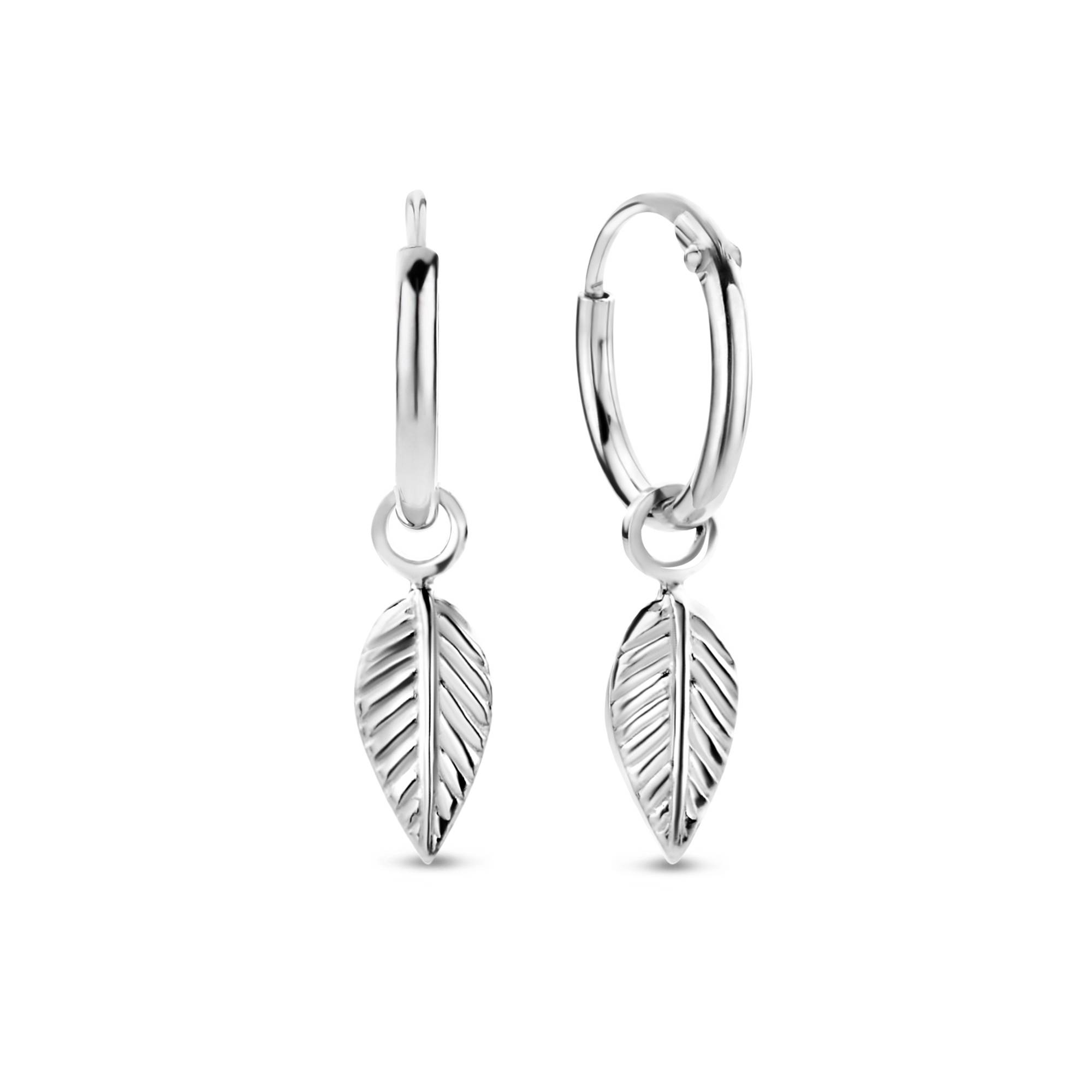 Julie Lucie 925 sterling silver earrings feather
