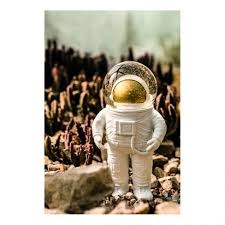 Donkey products The Giant Astronaut  H30xB16cm ,Wit