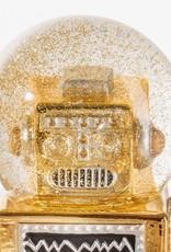 Robot Sneeuwbol Goud, 13.5x7.2x6cm,330442