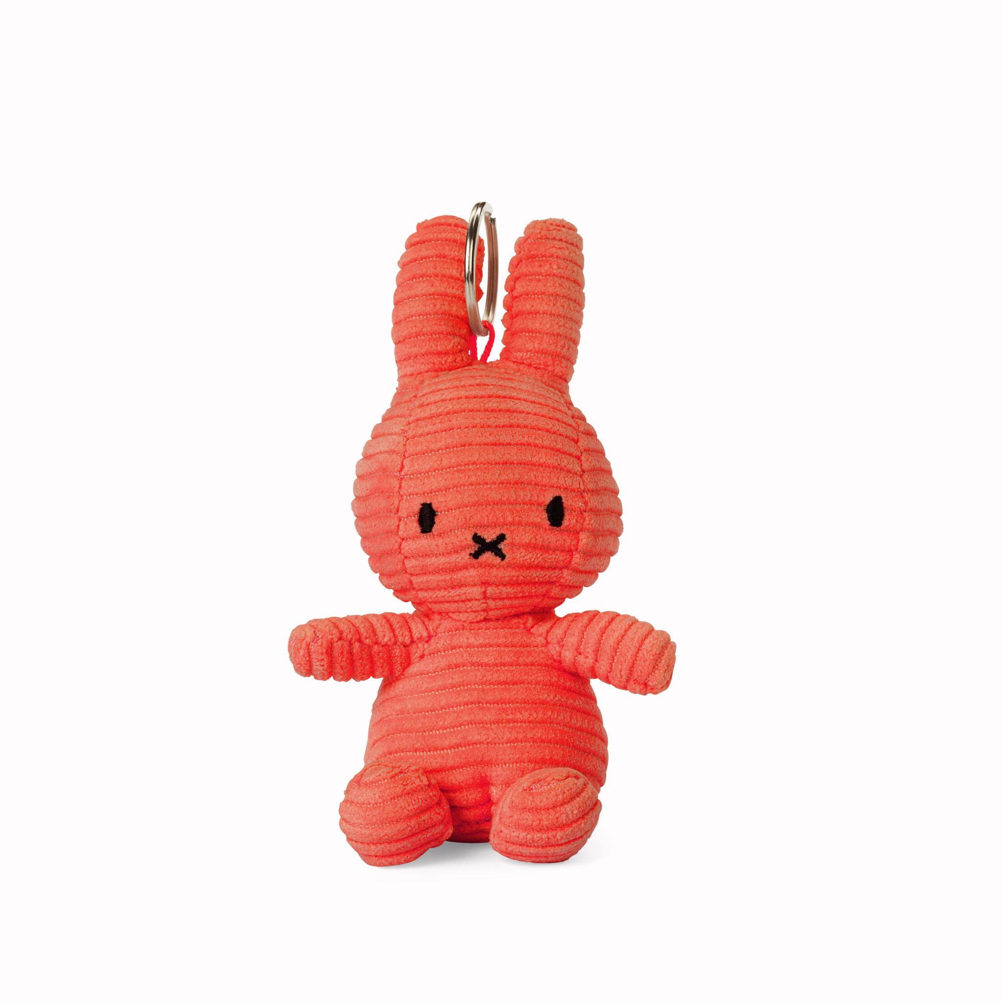 Nijntje/Miffy/Snuffy Miffy Keychain Corduroy Bubblegum Pink - 10 cm-4