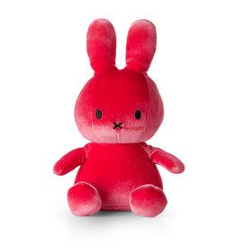 Nijntje/Miffy Miffy Sitting Velvet Candy Pink - 23 cm