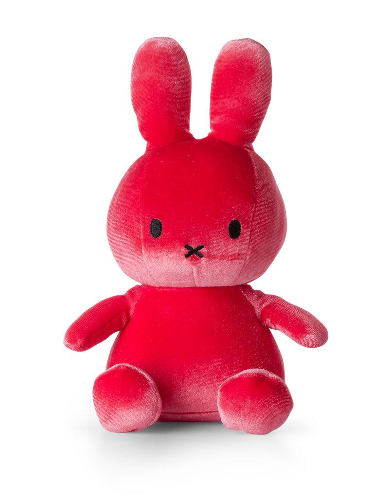 Nijntje/Miffy Miffy Sitting Velvet Candy Pink - 23 cm - 9