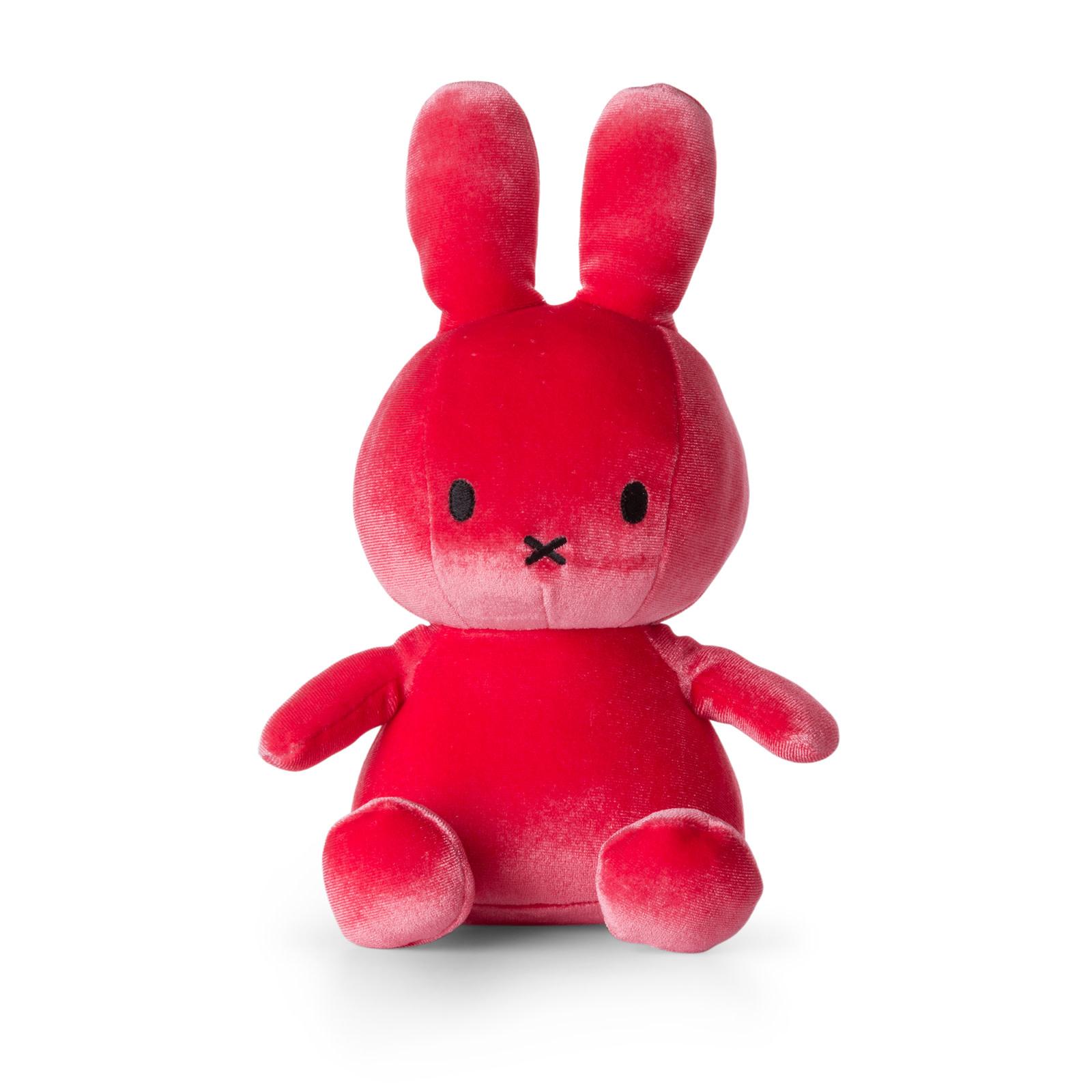 Nijntje/Miffy/Snuffy Miffy Sitting Velvet Candy Pink - 23 cm - 9