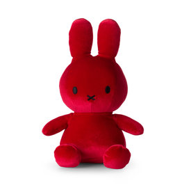 Nijntje/Miffy Miffy Sitting Velvet Candy Red - 23 cm