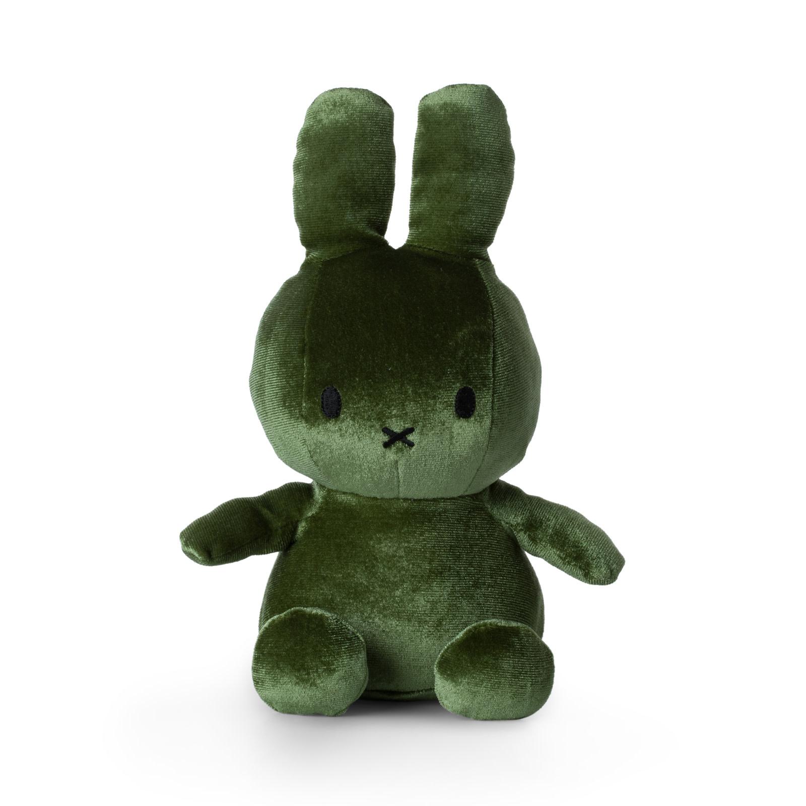 Nijntje/Miffy/Snuffy Miffy Sitting Velvet Moss Green - 23 cm - 9