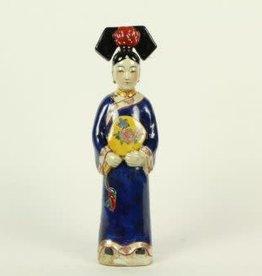 Blauwe Keizerin Chinees beeldje