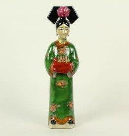 Groene Keizerin Chinees beeldje