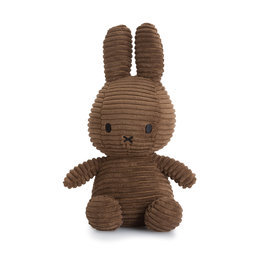 Nijntje/Miffy Miffy Sitting Corduroy Brown - 23 cm
