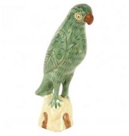 Papegaai Beeldje , Licht Groen, Porselein