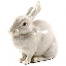 Konijn van Wit Porselein Maten:19x20x20cm