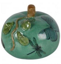 Pompoen van Porselein kleur groen