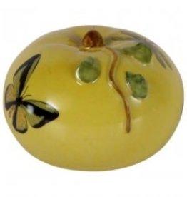 Pompoen van Porselein kleur geel