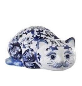 Pols Potten Kat spaarpot in Delfts blauw