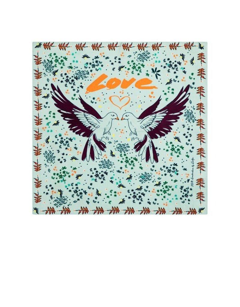 Pom Silk Carré Lovebirds by Katja