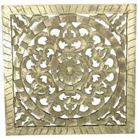 Ornament van MDF goudkleur handmade 38x1.6x38cm