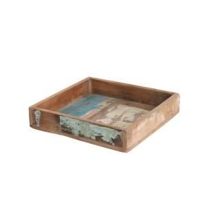 Scrapwood square tray S  20x20x6cm
