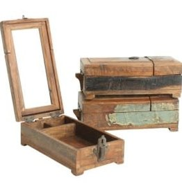 Scrapwood barber shaving box S 14x26x10